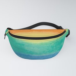 Large Hand Painted Watercolor Gay Pride Rainbow Equality and Freedom Flag Fanny Pack