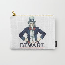 Beware Of The Wrath Of A Patient Man Uncle Sam Carry-All Pouch