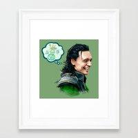 loki Framed Art Prints featuring Loki by James Bousema