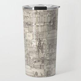 Edinburgh toile natural Travel Mug
