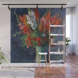 """Gustave Caillebotte """"Vase de glaieuls - Gladiolus vase"""" Wall Mural"""