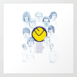 LEEDS UNITED 1972 Art Print
