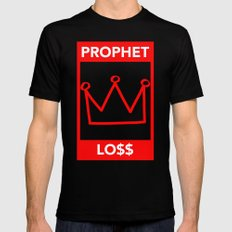 P&Ls - King Red Mens Fitted Tee Black MEDIUM