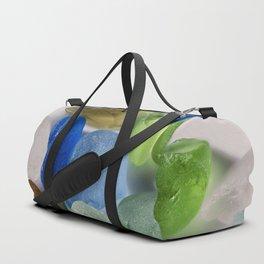 Colorful New England Beach Glass Duffle Bag