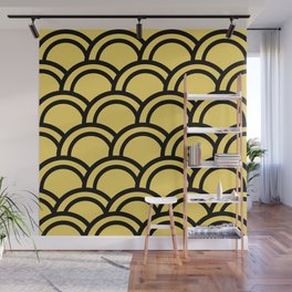 Gold Deco Fish Scale Wall Mural