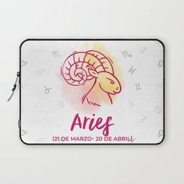 Zodiac signs collection - Aries Delvallediseno Laptop Sleeve