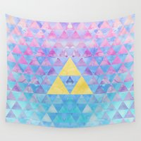 zelda Wall Tapestries featuring Zelda Geometry by enthousiasme