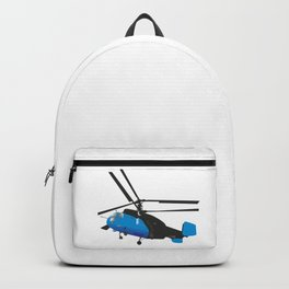 Black and Blue Helicopter Backpack