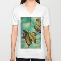 neverland V-neck T-shirts featuring Fall in Neverland by Honey Malek