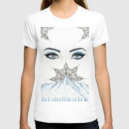 Winter Eyes Mountain Range Mandala T-shirt