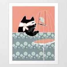 Kitty Bandit Art Print