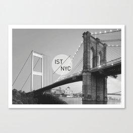 Bridges - nyc vs istanbul Canvas Print