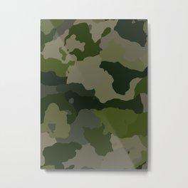 Shades of Green Camo Metal Print