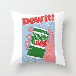 MOUNTAIN DEW Throw Pillow