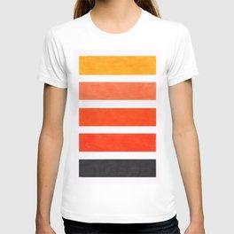 Colorful Orange Stripe Pattern T-shirt