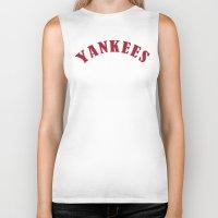 yankees Biker Tanks featuring Boston Yankees by jekonu