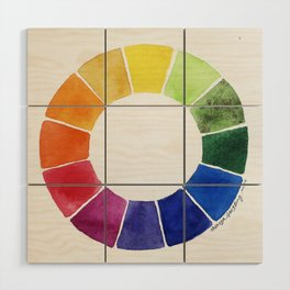 Color Wheel Wood Wall Art
