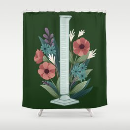 Floral Graduated Cylinder Shower Curtain