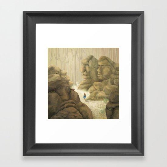 Valley of the Rock Men Framed Art Print