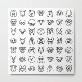 CUTE DOGS / PUPPIES PATTERN Metal Print