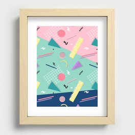 Dreaming 80s Pattern Recessed Framed Print