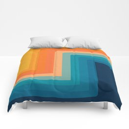Retro 70s Color Lines Comforters