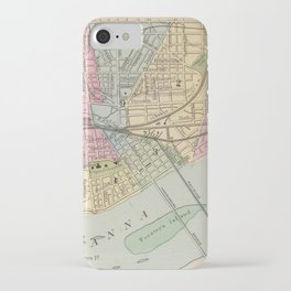Vintage Map of Harrisburg PA (1890) iPhone Case