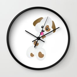 Emoji Dick Dog Wall Clock