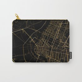 Black and gold Bangkok map Carry-All Pouch
