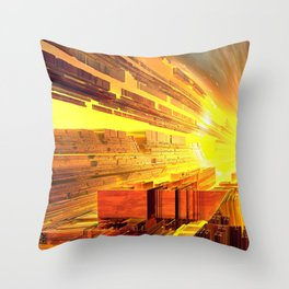 Retro Future Perfect Throw Pillow