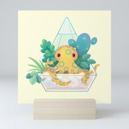 Ocean terrarium - Blue ringed octopus Mini Art Print