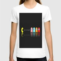 pac man T-shirts featuring Pac Man by Emma Kennedy