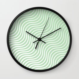 Whiskers Light Green & White #440 Wall Clock