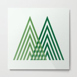 M is for Mountain Metal Print