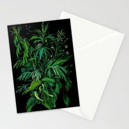 Summer Greenery, Green & Black Stationery Cards