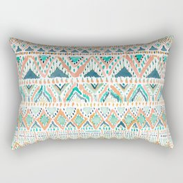 BALLIN' TRIBAL Boho Summer Geometric Rectangular Pillow