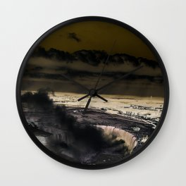 inverted horseshoe falls Wall Clock