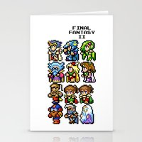 final fantasy Stationery Cards featuring Final Fantasy II Characters by Nerd Stuff