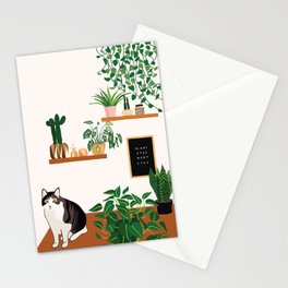 Plant Stop Won't Stop Stationery Cards
