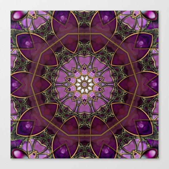 Amethyst Pink Mandala Canvas Print