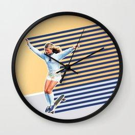 Skate Like a Girl 02 Wall Clock