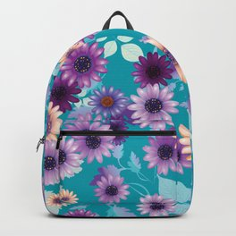 Multicolored natural flowers 7 Backpack