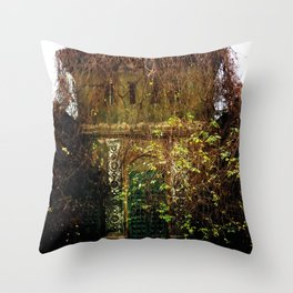 Nature finds the way inside... Throw Pillow