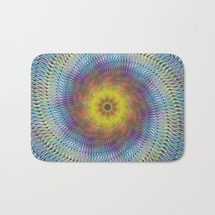 Psychedelic spiral Bath Mat