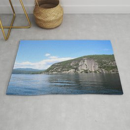 Summer's End: Roger's Rock on Lake George Rug