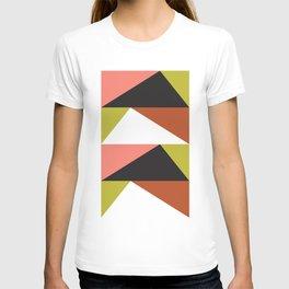 Geometric Pattern #23 (pink lime black triangle) T-shirt