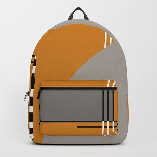 ABSTRACT IN ORANGE Backpack