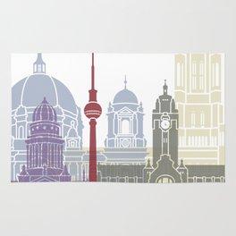 Berlin skyline poster Rug