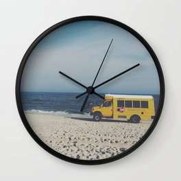 Kismet Beach Bus Wall Clock