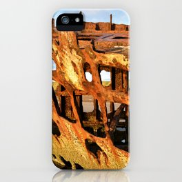 The Wreck of the Peter Iredale iPhone Case